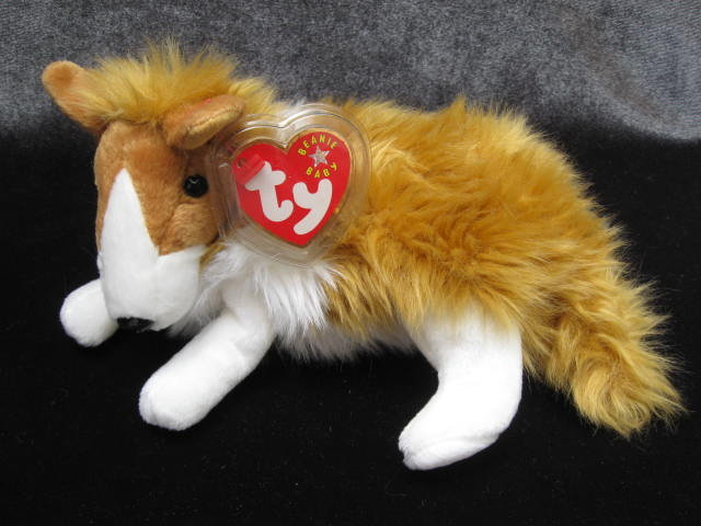 Ty  Cassie The Collie Dog Retired   Retired  Beanie Baby
