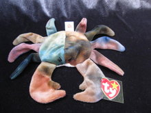Ty  Claude The Crab      Retired  Beanie Baby