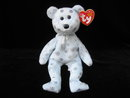 Ty Flaky The Snowflake Bear   Beanie Baby