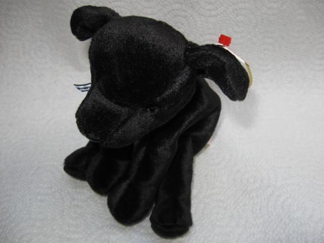 Ty Luke The Black Lab Pup Puppy Dog Retired   Beanie Baby