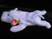 Ty  Happy The Hippo    Retired    Beanie Baby