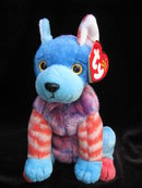 Ty  Hodge-Podge The Dog    Retired    Beanie Baby
