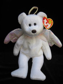 Ty  Halo The Silver Winged Angel Bear   Retired      Beanie Baby