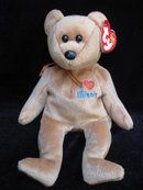 Ty  ILLINOIS   I Love Illinois    Bear Retired    Beanie Baby