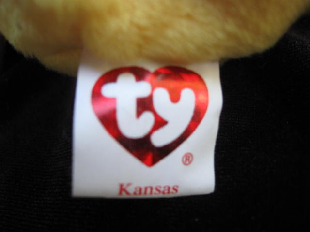 Ty  KANSAS   I Love Kansas     Bear Retired    Beanie Baby