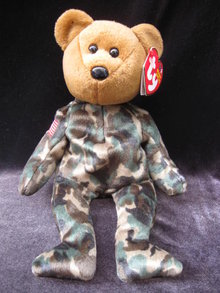 Ty  USA USO  HERO  Military  Bear Retired Beanie Baby