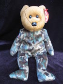 Ty  USA USO  HERO  Military  Bear Reversed Flag Retired Beanie Baby