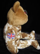 Ty  UK USO  HERO  Military  Bear Reversed Flag Retired Beanie Baby