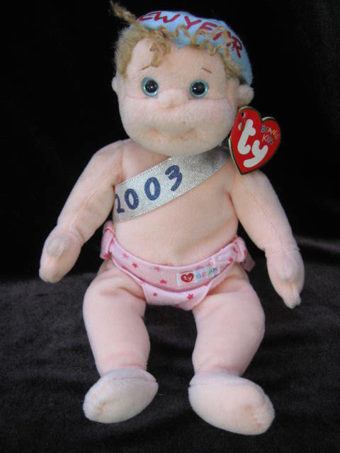 Ty New Year's Baby Babe-e Beanie Babies Kid