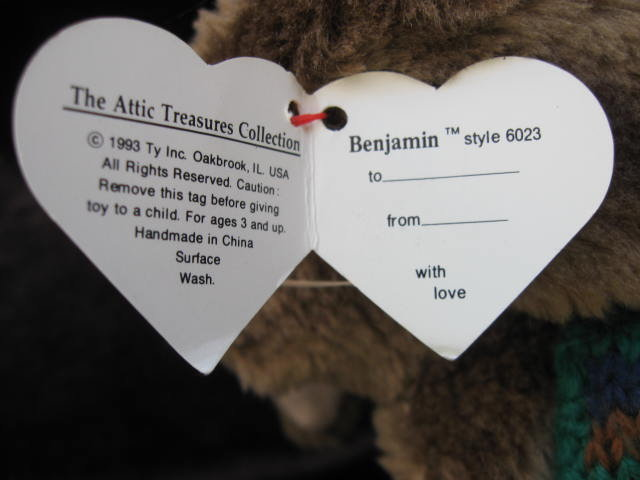 Ty Benjamin Rabbit Attic Treasure