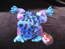 Ty Dart The Blue Frog Beanie Baby