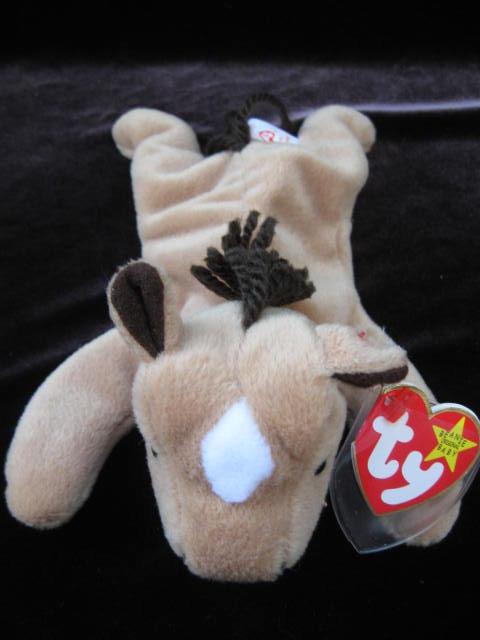 Ty  Derby Horse  Yarn Mane &  Star Retired  Beanie Baby