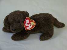 Ty Fetcher The Chocolate Lab Pup Puppy Dog  Beanie Baby
