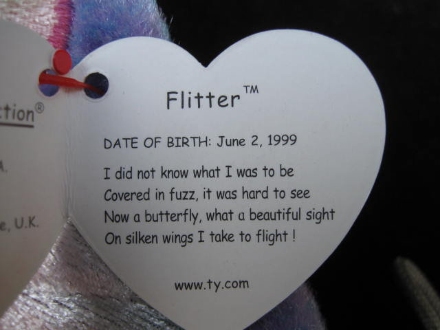 Ty Flitter The Butterfly Beanie Baby