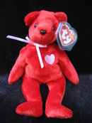 Ty Kiss-e Valentine Red Bear  Beanie Baby