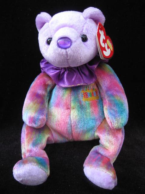 Ty February   Birthday Bear Beanie Baby
