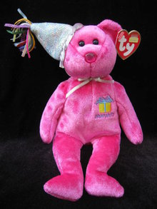 Ty January    Birthday Bear Beanie Baby