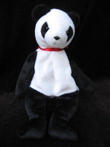 Ty  Fortune Panda Bear Feanie Baby