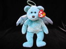 Ty Dyed Aqua  Halo The Angel Bear Beanie Baby