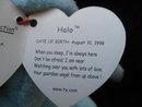 Ty Dyed Aqua  Halo The Angel Bear Beanie Baby