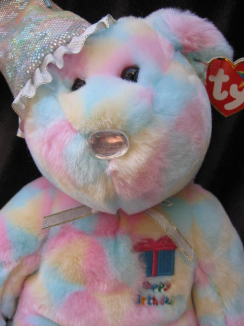 Ty Birthday Bear Beanie Buddy