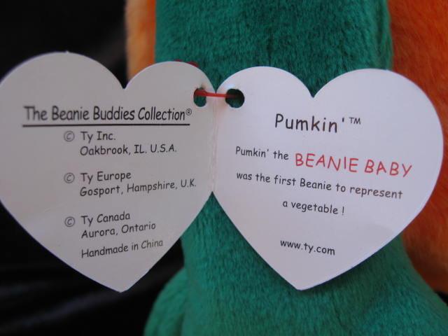 Ty  Pumkin The Halloween Pumpkin Jack O Lantern Beanie Buddy