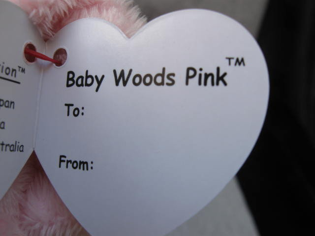 Ty Pluffies Woods The Pink  Teddy Bear Plush