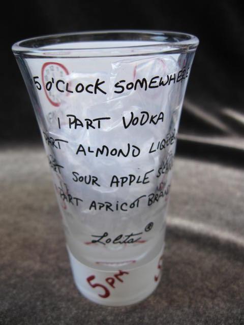 Lolita It's 5 o'Clock Somewhere Shot Glass