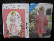 New Vintage Simplicity 8400 & Butterick 5194  Children's  Raffled Dress Lot Of 2 Sewing Patterns