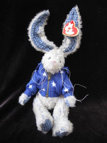 Ty Washington Attic Treasure  Patriotic Bunny Rabbit