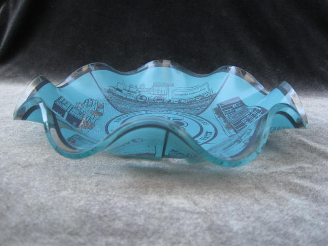 Southern Pacific 25 Years Ruffled Candy Dish