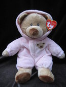Ty Pluffies Baby Pink Bear  PJ Pajamas Pluffie 11