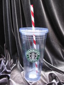Starbucks 2010 Christmas Venti Candy Cane Cold Cup  To Go  Tumbler 20 OZ