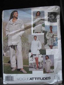 Vogue Attitudes 1169 Jennifer George  Misses' Hoodie Jacket, Top, Shorts Pants Size 6 8 10