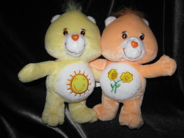 5 Cuddle Care Bears Grumpy, Birthday Bear &  Take Care Bear, Funshine & Friend Care Bears Cuddle Pair Care Bears