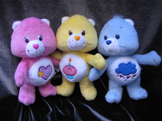 5 Cuddle Care Bears Grumpy, Birthday Bear &  Take Care Bear, Funshine & Friend Care Bears Cuddle Pair Care Bears