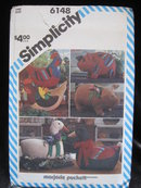 Simplicity Crafts 6148  Pig Goose  Duck Chicken Hen Sewing Pattern