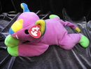 Ty Meow The Purple Multi Colored Kitty Cat Pillow Pal