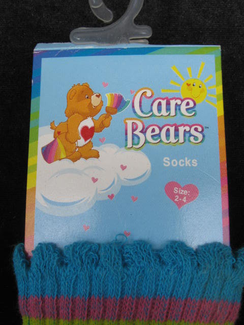 3 Pairs of Childs   Friend  Care Bears Socks  Stockings Size 2-4