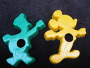 2 Vintage  Disney Mickey Mouse Donald Duck  Eagle Disney Productions Cookie Cutters