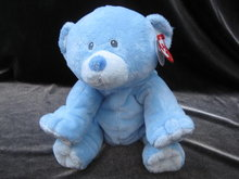 Ty Pluffies Woods The Blue Plush  Teddy Bear Plush