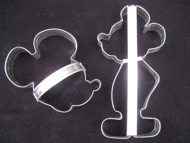 2 Large Mickey Mouse Cookie Cutters