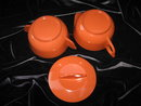 Vintage Orange Melmac Melamine Sugar With Lid  & Creamer Set