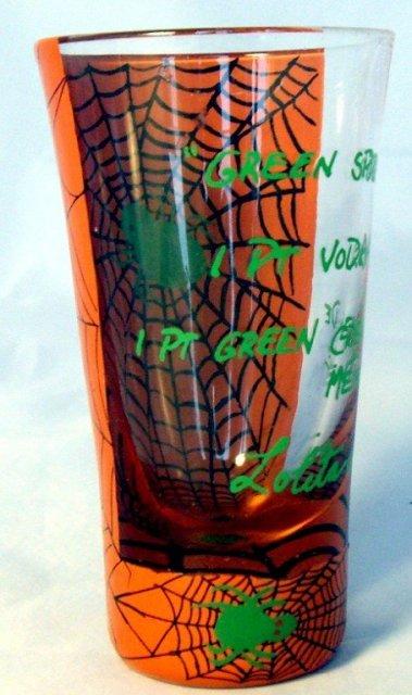 Lolita Halloween Green Spider  Shot Glass