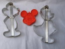 Large Mickey Mouse & Donald Duck  - 3 Disney Cookie Cutters
