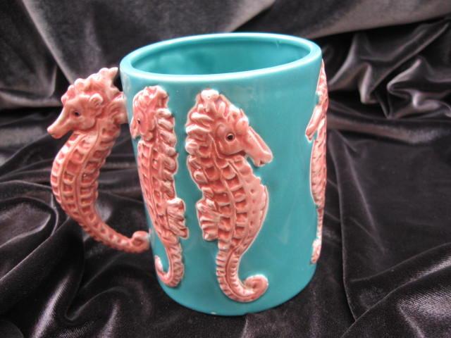 Vintage Five & Dime Seahorse Mug 1980's 3D