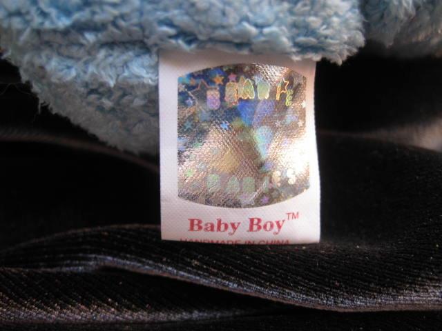 Ty Baby Boy The Blue Teddy Bear Retired Beanie Baby