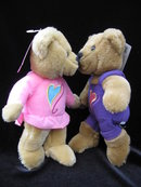 Hallmark 2000 Love &  Kiss Kiss Bears Kissing Plush