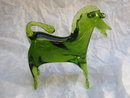 Viking Green Glass Horse Figurine