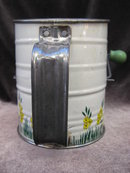 Vintage Flour Sifter   With Yellow Flowers